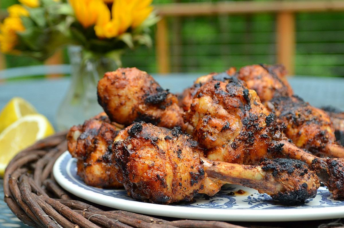 How To Cook Chicken Legs On The Grill  Smoky Grilled Chicken Drumsticks