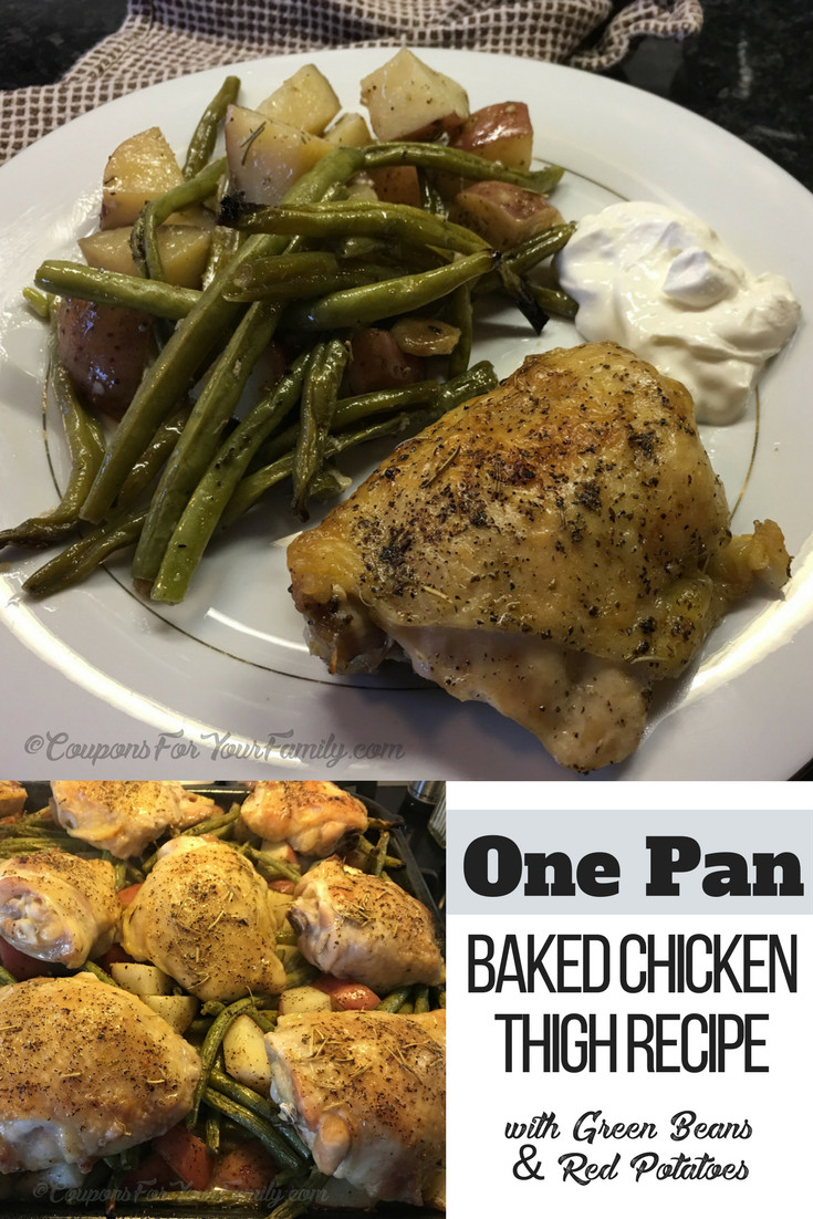 How To Cook Chicken Thighs In A Pan  e Pan Baked Chicken Thigh Recipe with Green Beans and
