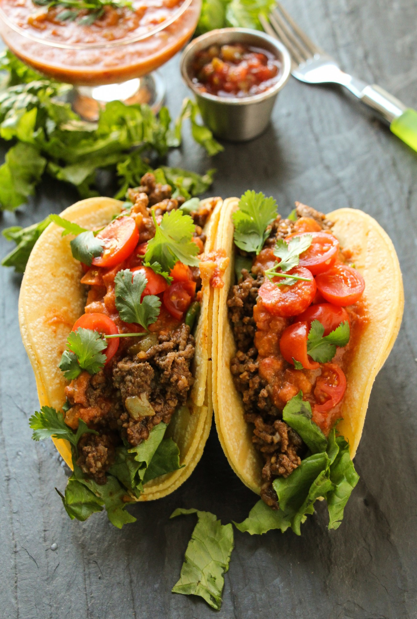 How To Cook Ground Beef For Tacos  Ground Beef Tacos with Loaded Refried Bean Sauce Layers