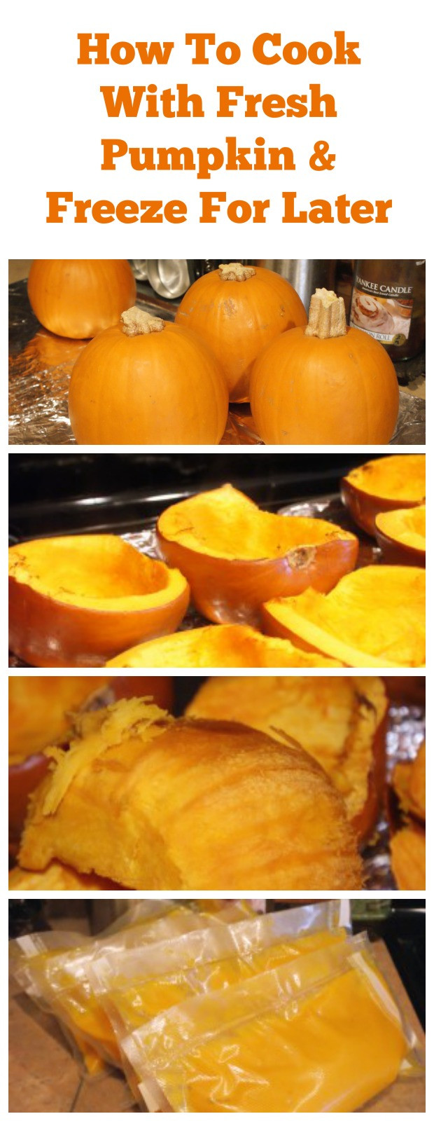 How To Cook Pumpkin For Pie  How to Freeze & How to Can Fresh Pumpkin