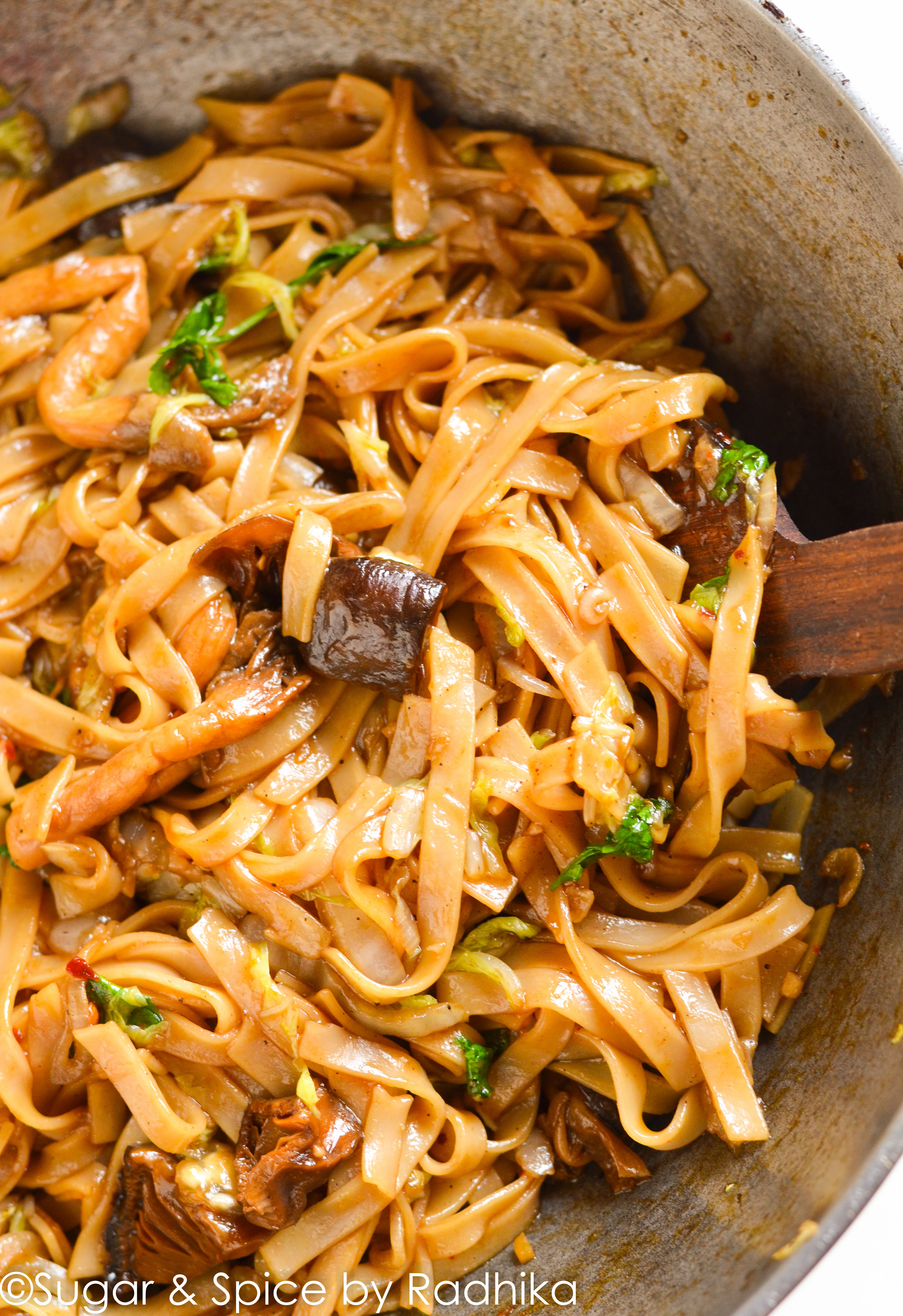How To Cook Rice Noodles  Rice Stick Noodles with Shiitake and Oyster Mushrooms