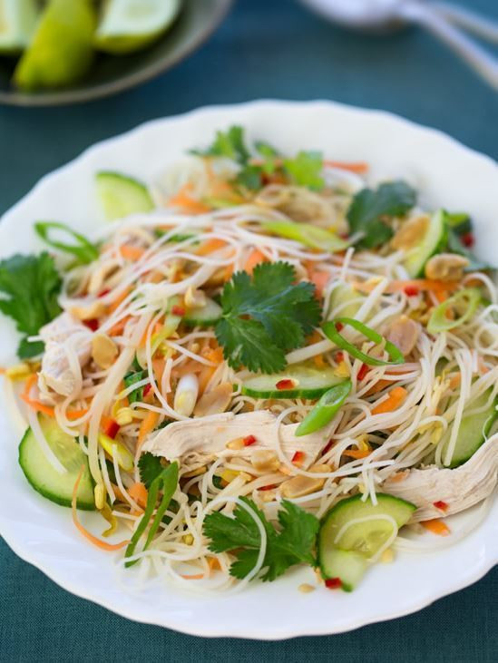 How To Cook Rice Noodles  How to Make Vietnamese Rice Noodle Salad Lunch Recipe