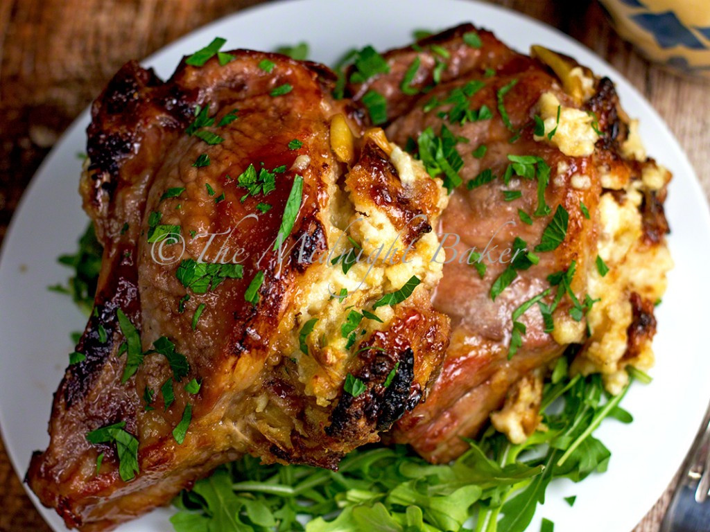 How To Cook Stuffed Pork Chops  Fontina & Caramelized ion Stuffed Pork Chops The