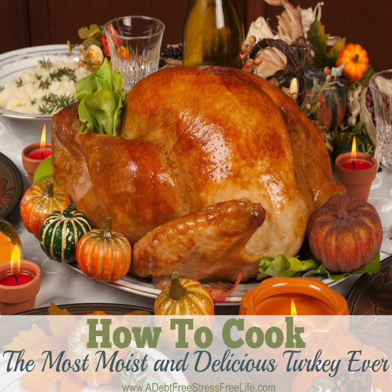 How To Cook Thanksgiving Turkey  How To Cook A Moist and Delicious Turkey A Debt Free
