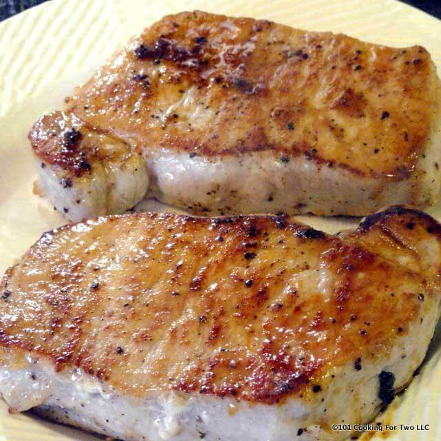 How To Cook Thick Boneless Pork Chops  Pan Seared Oven Roasted Pork Chops from Loin
