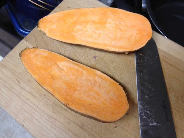 How To Cut Sweet Potato Fries  What s your go to dinner Fitness