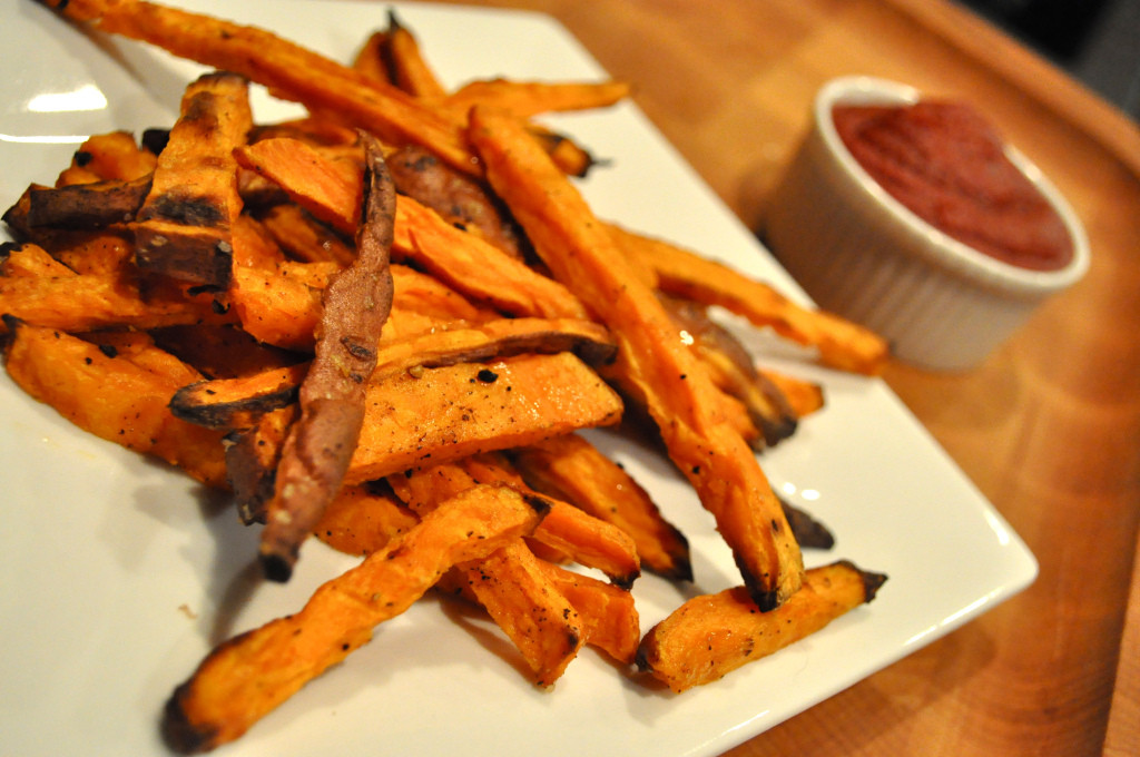 How To Cut Sweet Potato Fries  thick cut sweet potato fries with paleo ketchup Fed & Fit