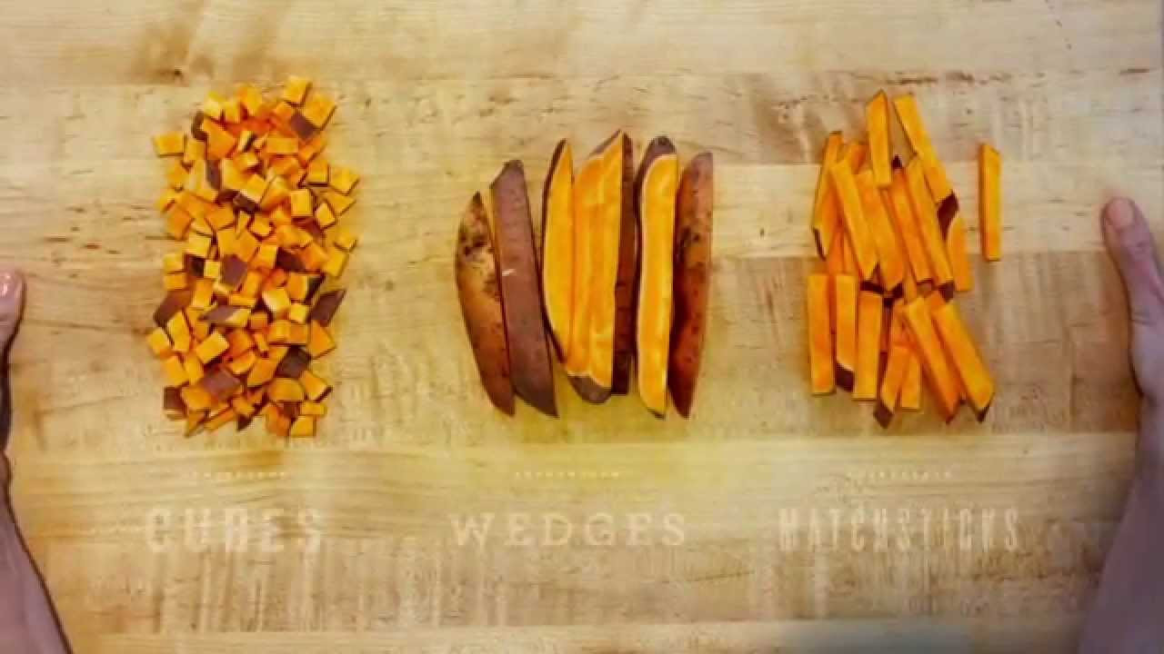How To Cut Sweet Potato Fries  How To Cut Sweet Potatoes