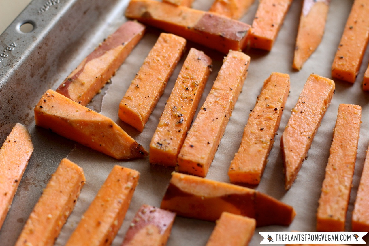 How To Cut Sweet Potato Fries  Thick Cut Sweet Potato Fries Roasted ion Dip The