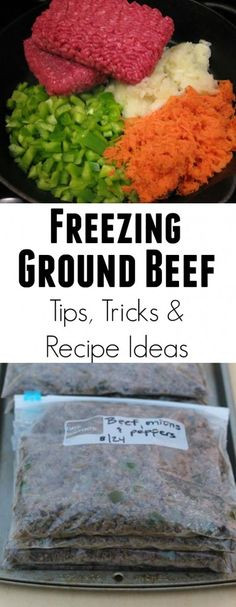 How To Defrost Ground Beef  1000 images about Food Freezer Cooking OAMC on