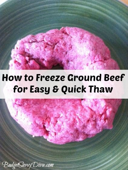 How To Defrost Ground Beef Fast  How to Freeze Ground Beef for Quicker Thaw