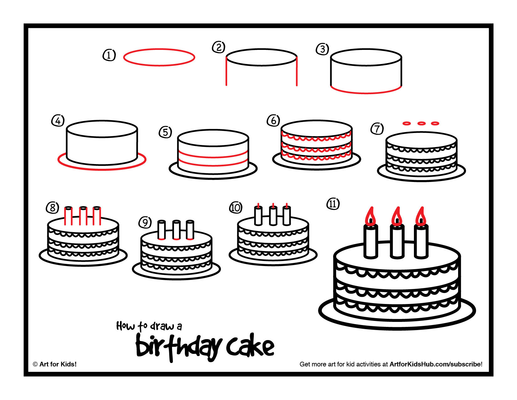 How To Draw A Birthday Cake  Drawn cake awesome birthday Pencil and in color drawn