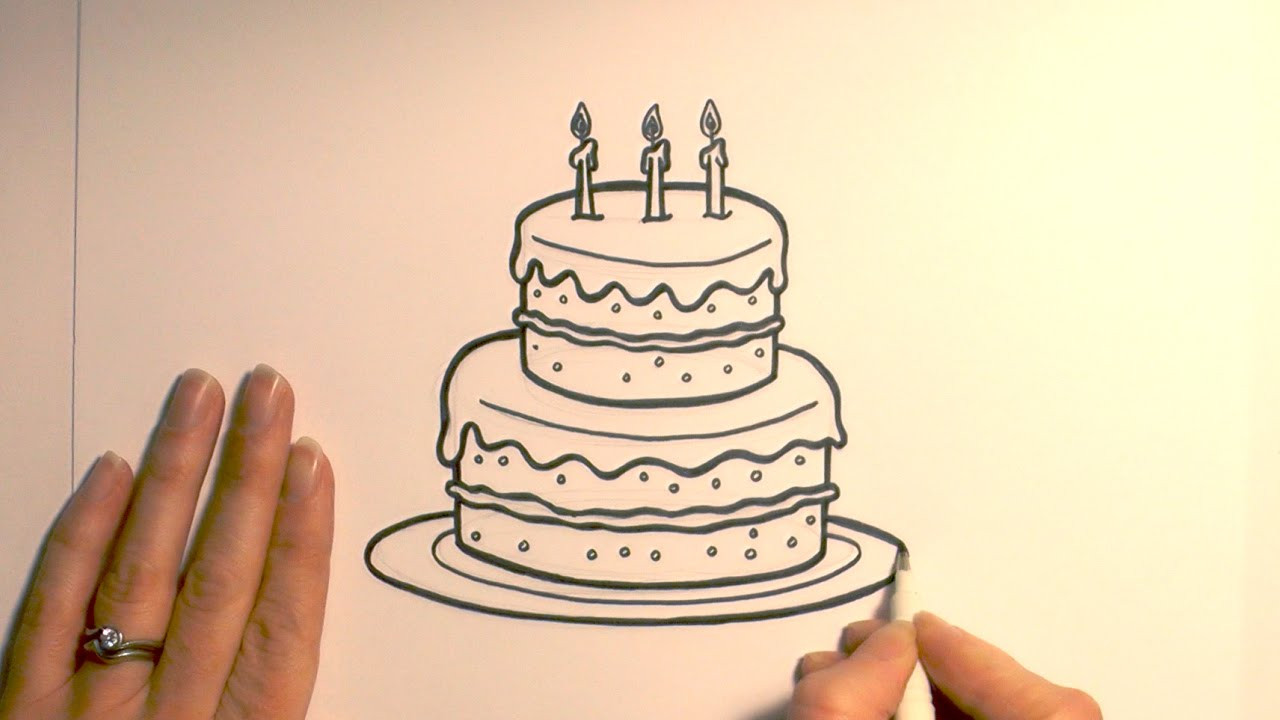 How To Draw A Birthday Cake  How to Draw a Birthday Cake