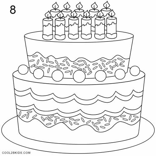 How To Draw A Birthday Cake  How to Draw a Birthday Cake Step by Step