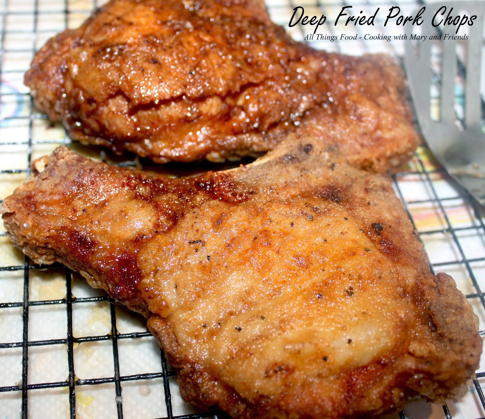 How To Fry Pork Chops Without Flour  Cooking With Mary and Friends Deep Fried Pork Chops