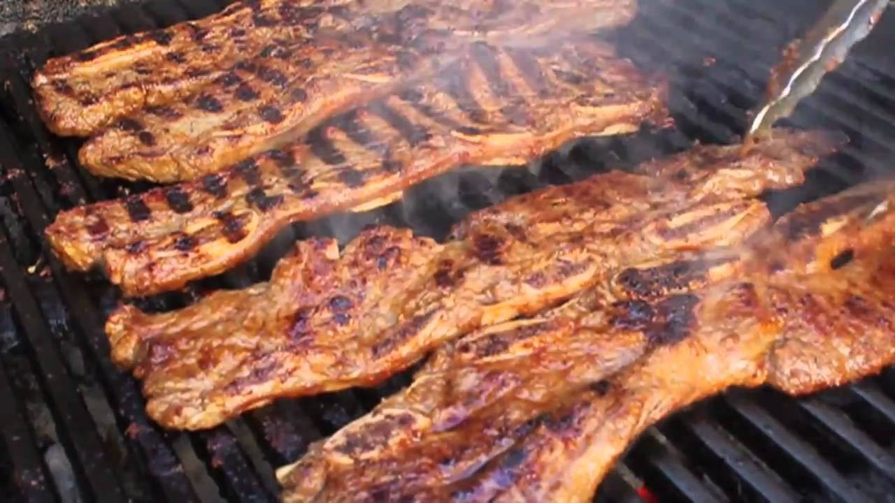 How To Grill Beef Ribs  Korean Style Beef Short Ribs Grilled Flanken Style Beef
