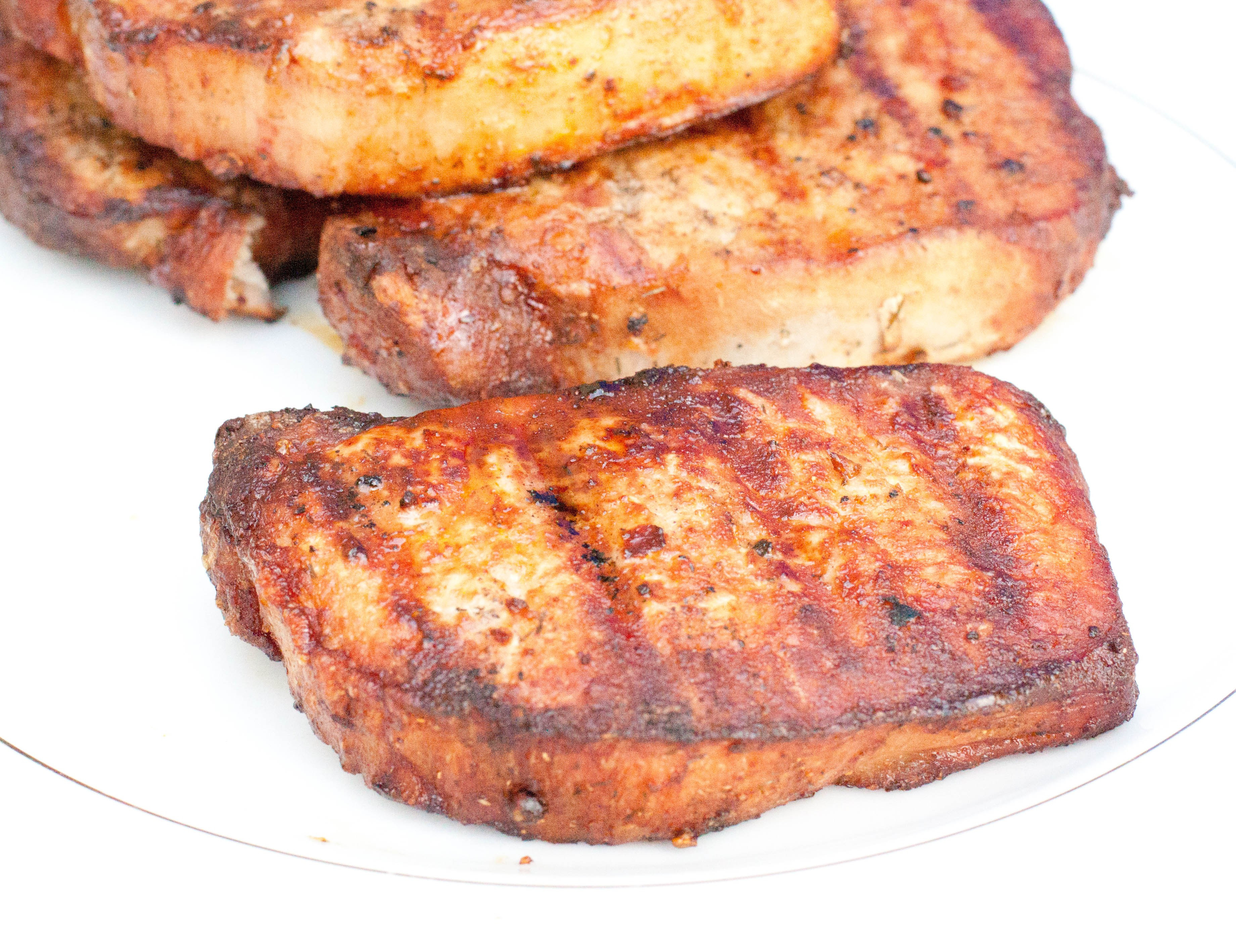 How To Grill Boneless Pork Chops  Grilled Boneless Pork Chops Served From Scratch