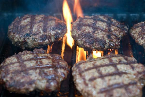 How To Grill Hamburgers  Help Prevent Grill Flare Ups By Degreasing the Grill