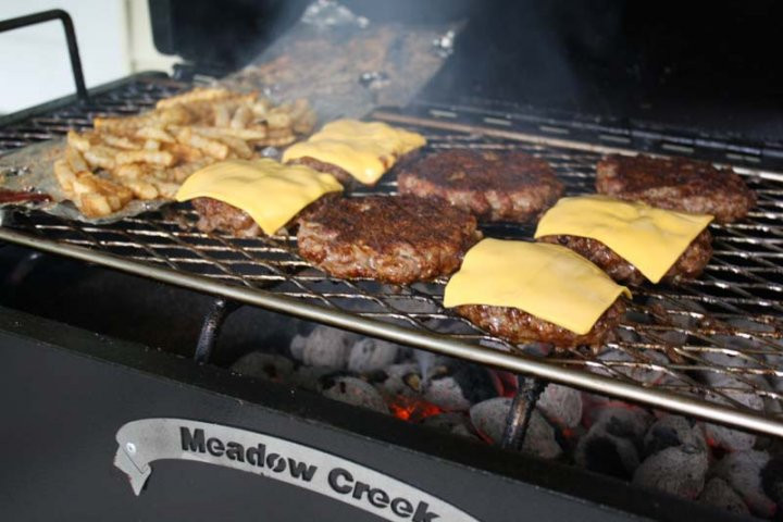 How To Grill Hamburgers  How to Grill Hamburgers and Fries on a Charcoal Grill