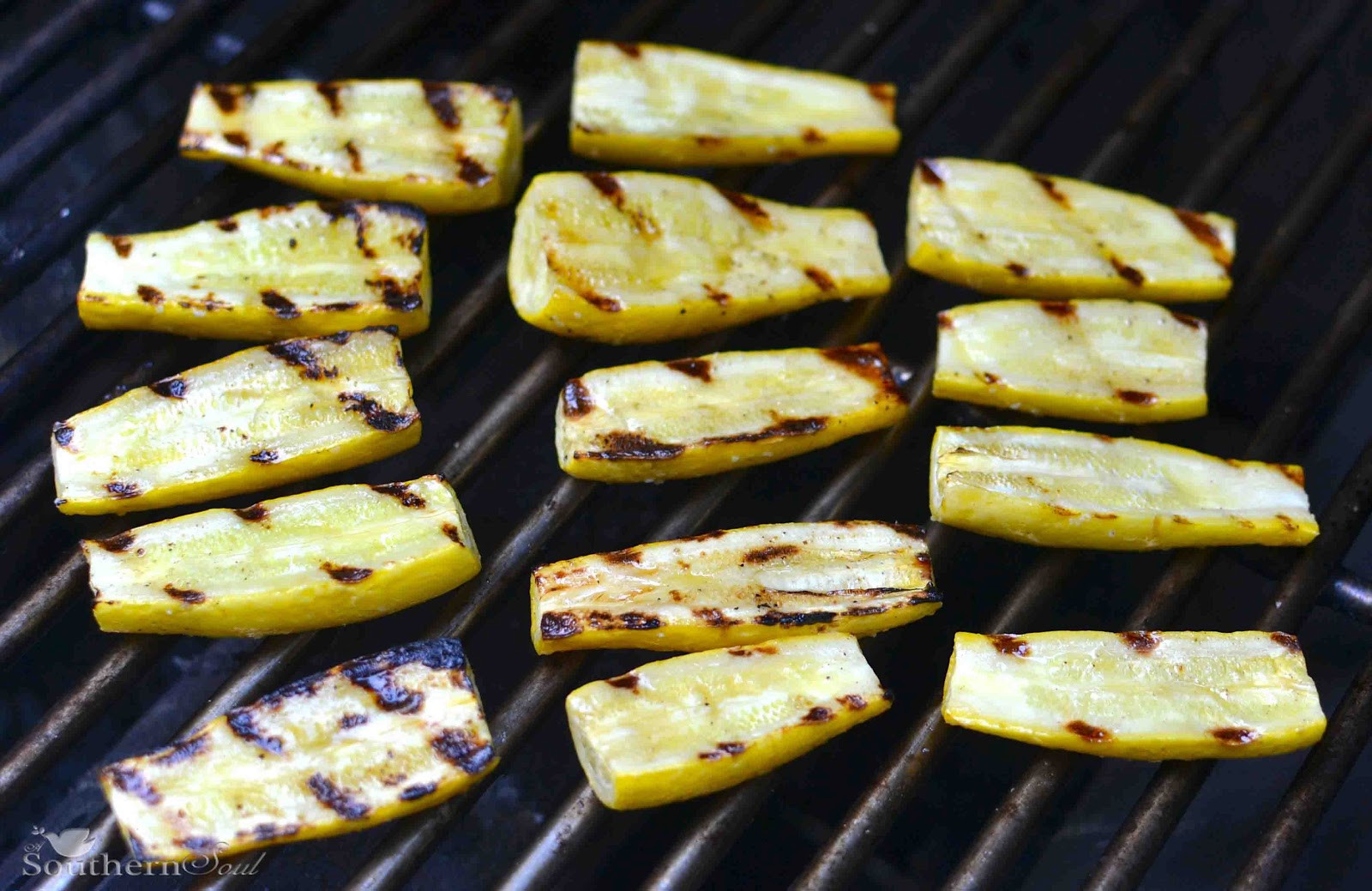 How To Grill Squash  Grilled Yellow Squash with Lemon & Chive Vinaigrette A