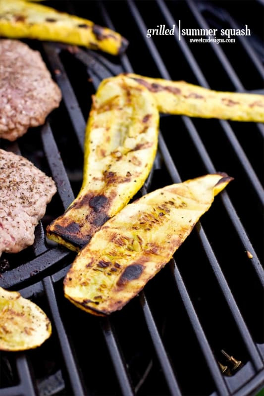 How To Grill Squash  Easy Grilled Yellow Squash Sweet Cs Designs