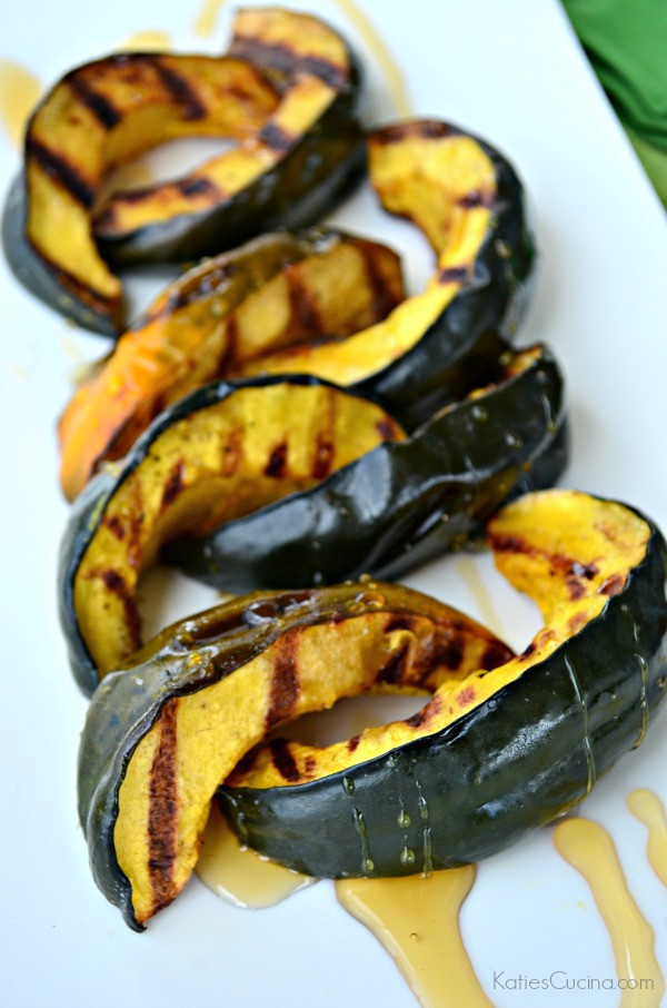 How To Grill Squash  Grilled Honey Acorn Squash Katie s Cucina