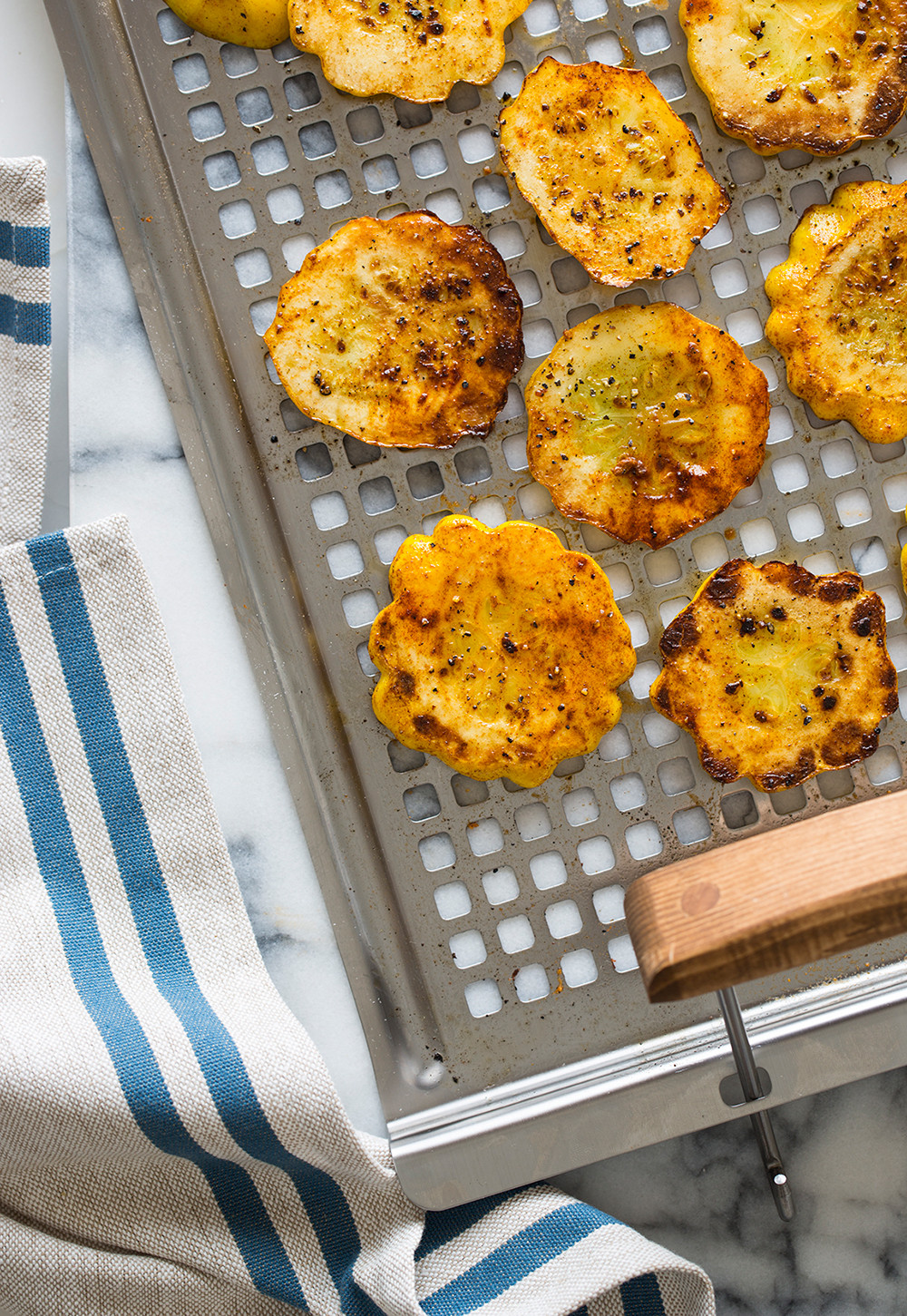 How To Grill Squash  Achiote Grilled Sunburst Squash Grilling recipe
