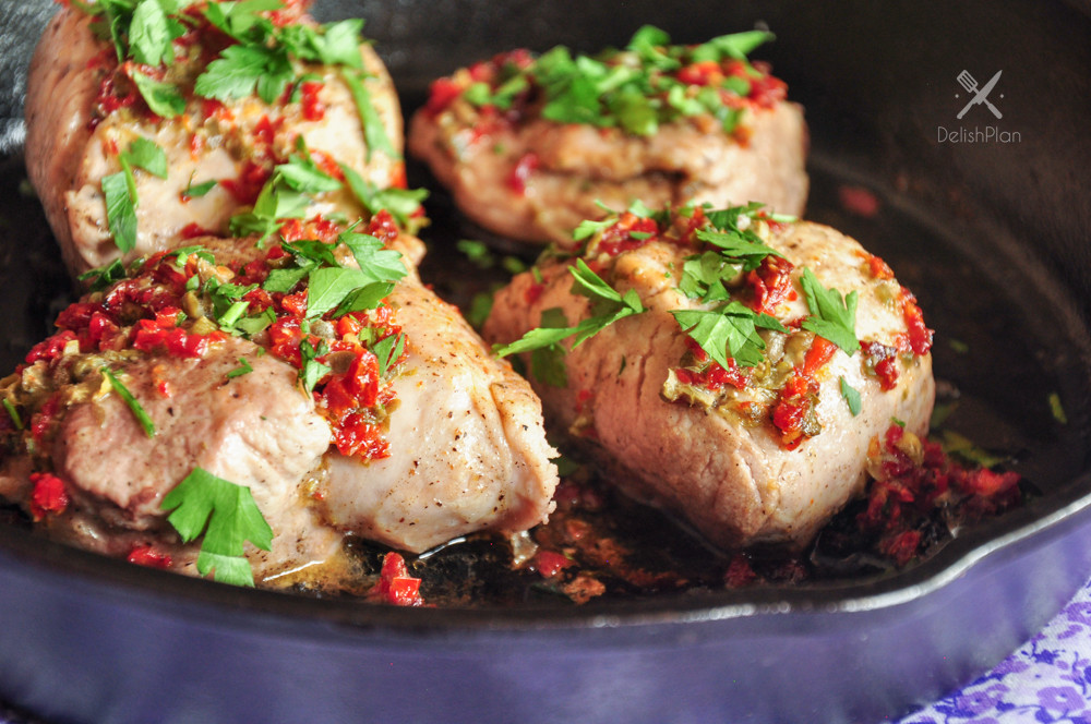 How To Keep Pork Loin From Drying Out  Pork Tenderloin with Sun Dried Tomatoes & Capers