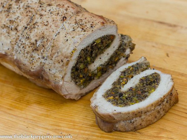 How To Keep Pork Loin From Drying Out  Pork Loin with Mushroom Pistachio Stuffing Recipe