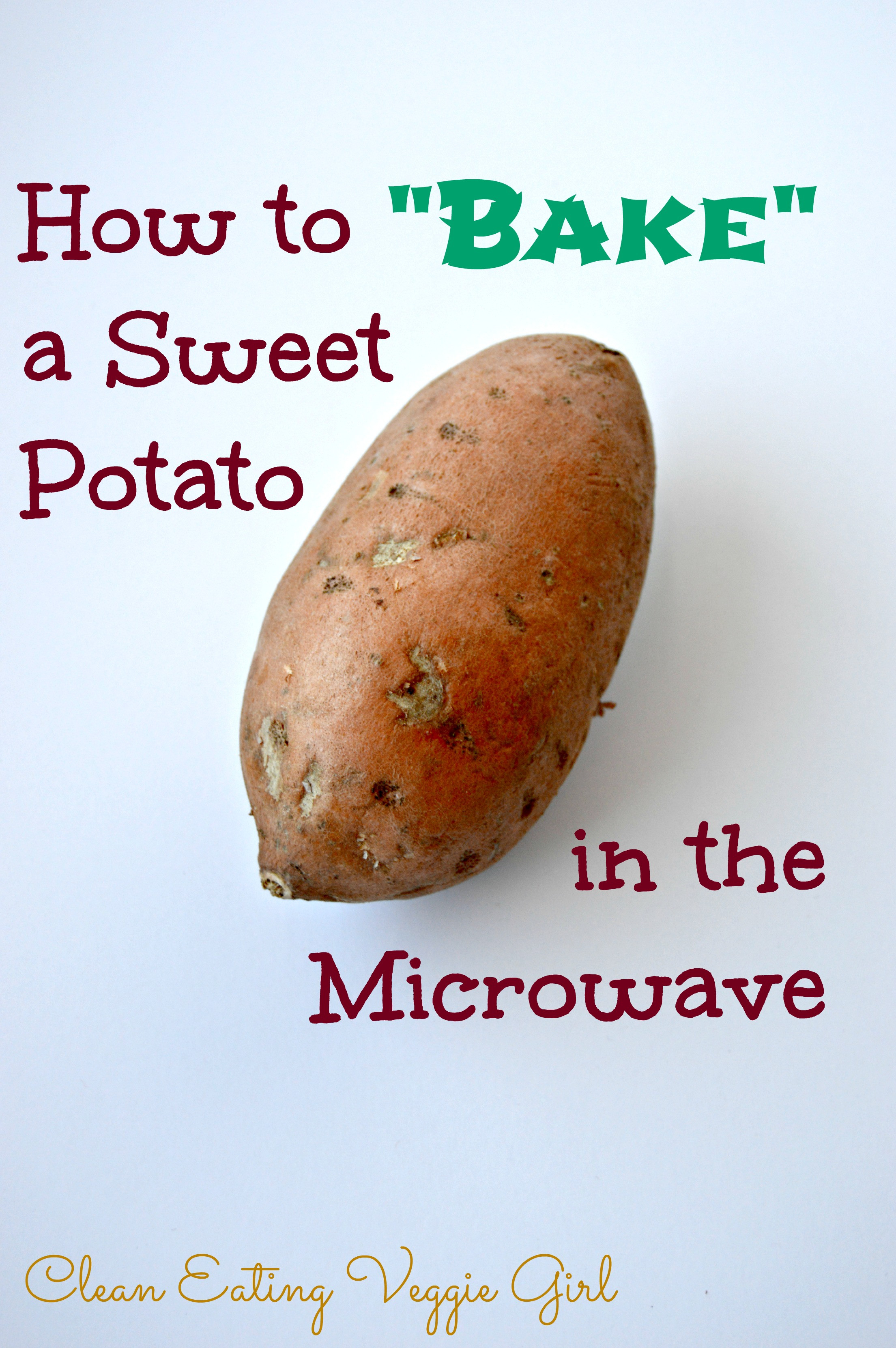 How To Make A Baked Potato In The Microwave  How to Make a Baked Sweet Potato in the Microwave Clean