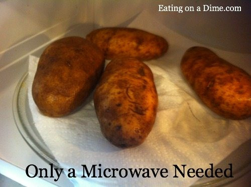 How To Make A Baked Potato In The Microwave  Microwave Baked Potato How to bake a potato in the microwave