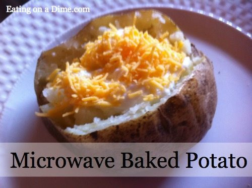 How To Make A Baked Potato In The Microwave  Easy to make Microwave Baked Potatoes Eating on a Dime