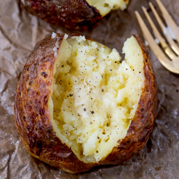 How To Make A Baked Potato In The Oven  How To Make a Baked Potato