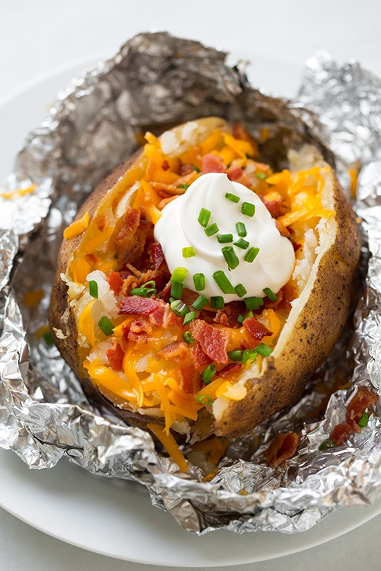 "How To Make A Baked Potato In The Oven  Slow Cooker ""Baked"" Potatoes Cooking Classy"