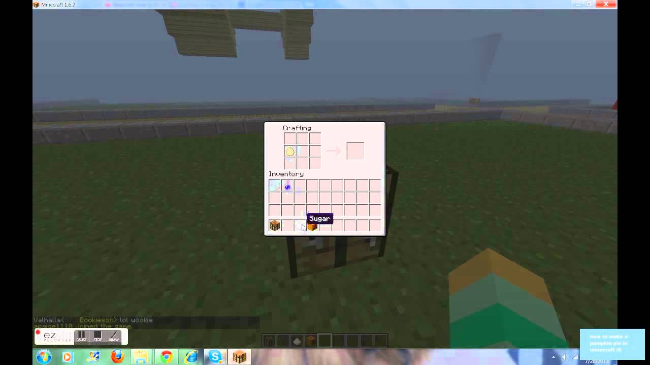 How To Make A Pumpkin Pie In Minecraft  how to make a pumpkin pie in minecraft