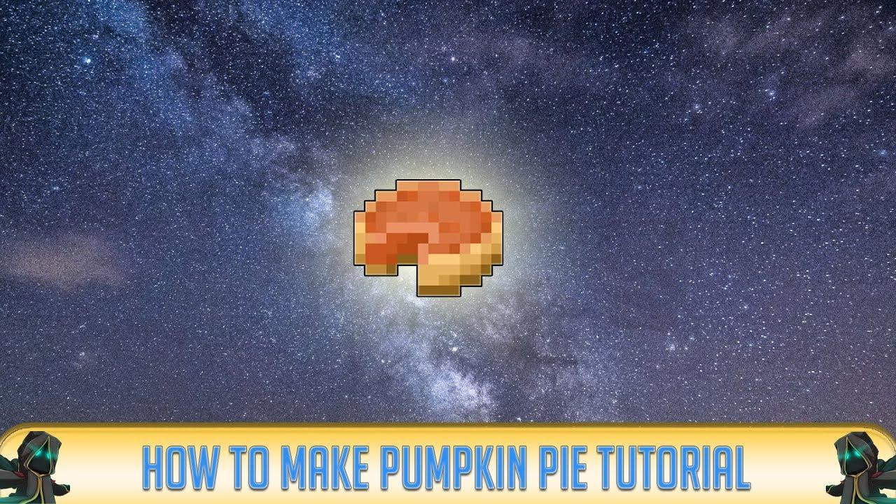 How To Make A Pumpkin Pie In Minecraft  Minecraft How To Make PUMPKIN PIE Recipe Tutorial for