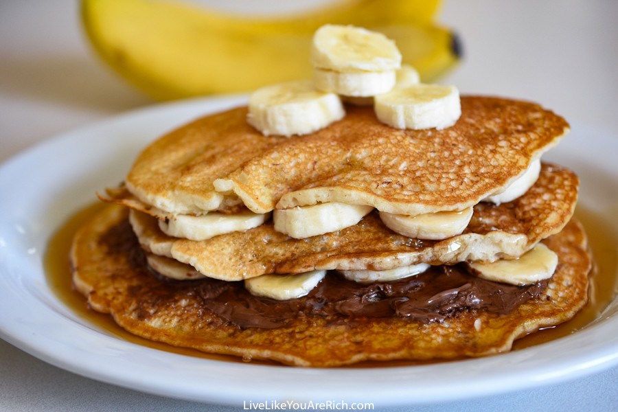 How To Make Banana Pancakes  How to Make Banana Pancakes out of Pancake Mix