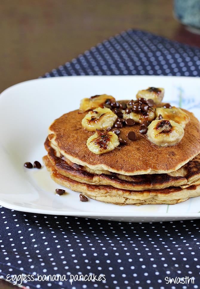 How To Make Banana Pancakes  Eggless banana pancakes recipe