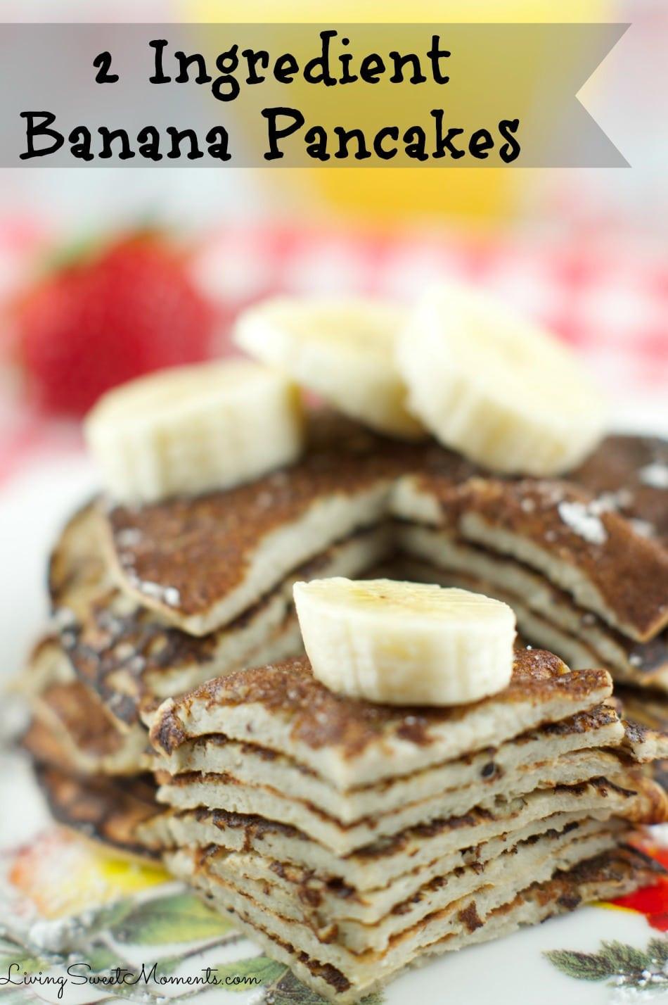 How To Make Banana Pancakes  pancake recipe for 2