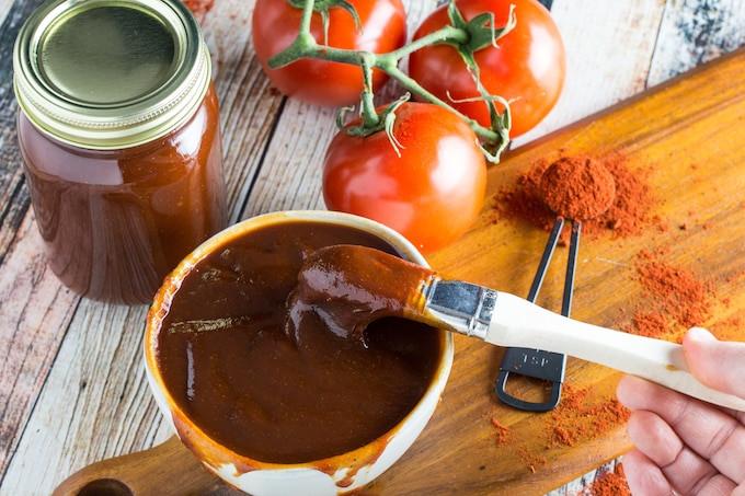 How To Make Bbq Sauce  Sweet & Spicy Gluten Free BBQ Sauce Recipe Dishing Delish