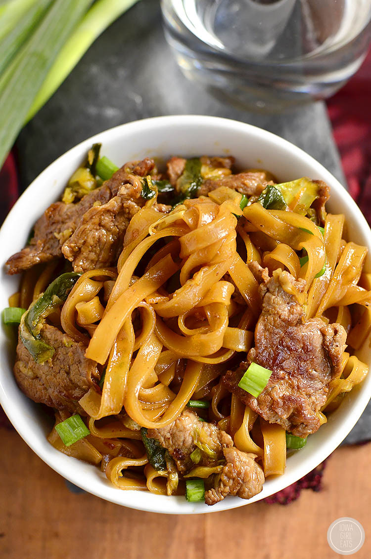 How To Make Beef And Noodles  Mongolian Beef Noodle Bowls Video Iowa Girl Eats