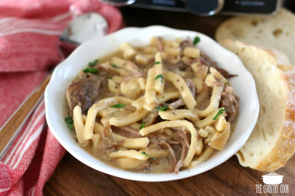 How To Make Beef And Noodles  Crock Pot Beef & Noodles The Country Cook