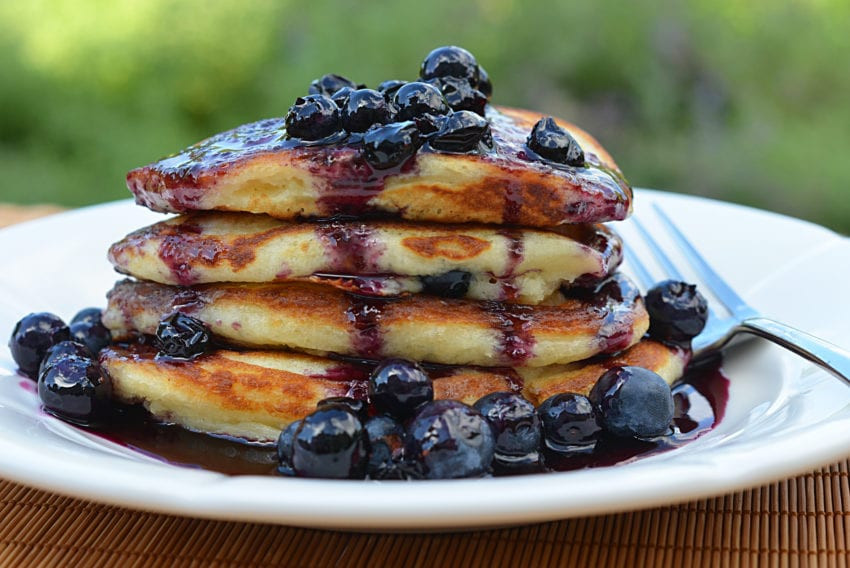 How To Make Blueberry Pancakes  Blueberry Buttermilk Pancakes with Blueberry Maple Syrup