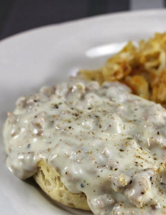 How To Make Breakfast Gravy  The Best Biscuits and Gravy Ever foodsweet