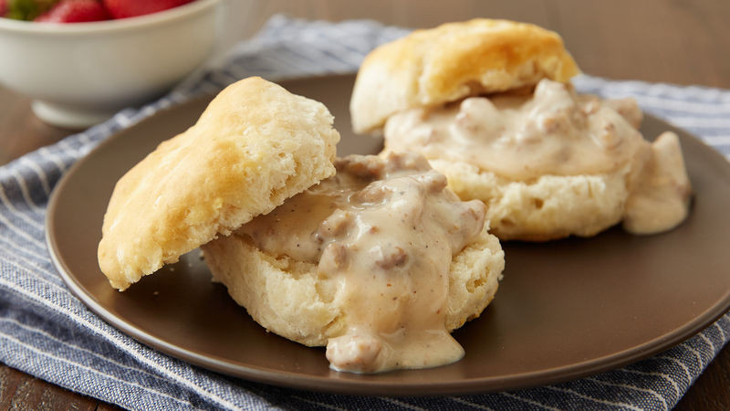 How To Make Breakfast Gravy  Easy Biscuits and Gravy for Two Recipe Pillsbury