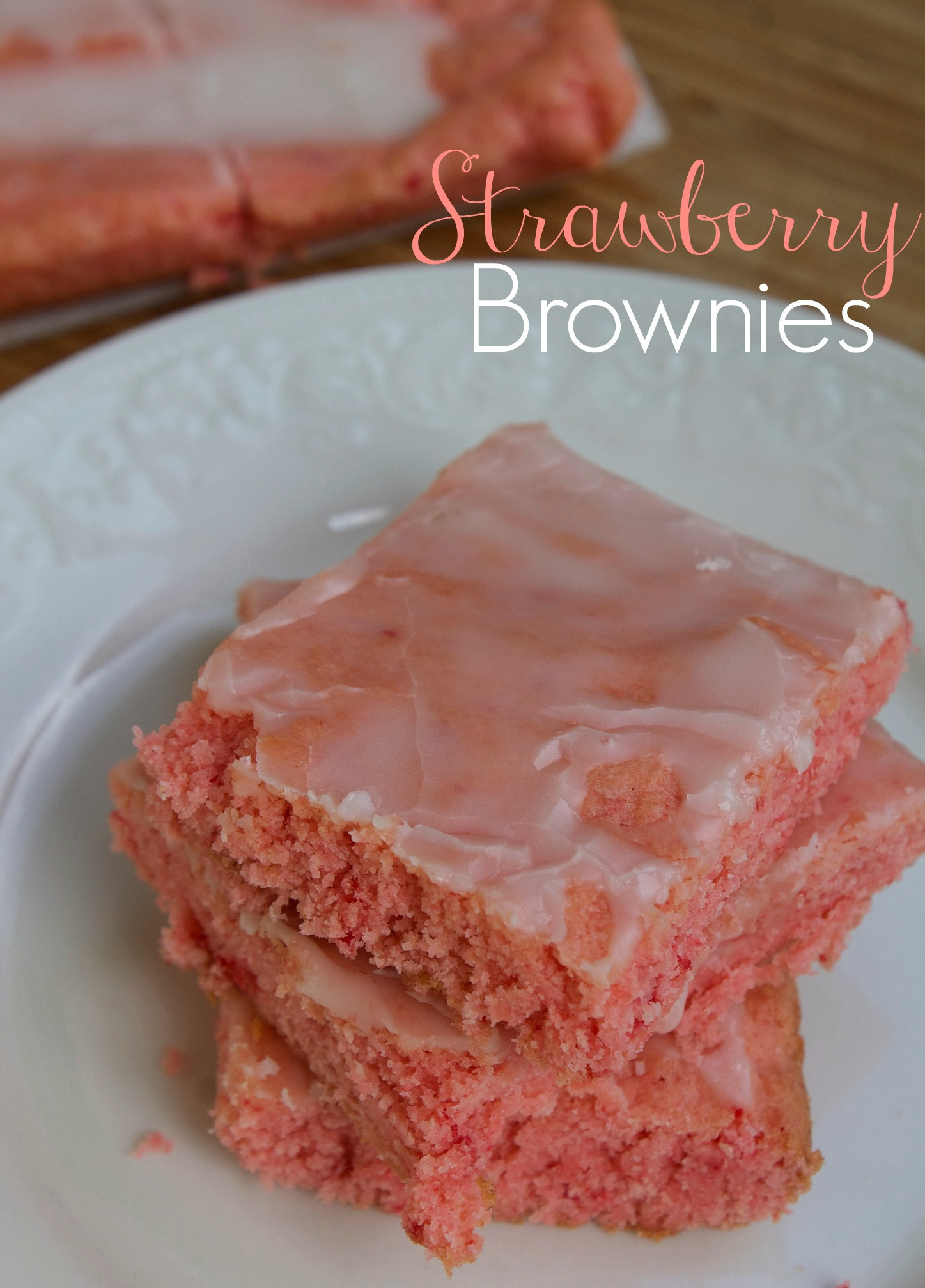 How To Make Brownies Out Of Cake Mix  Strawberry Brownies Recipe