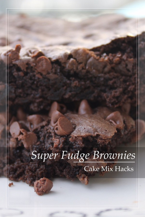 How To Make Brownies Out Of Cake Mix  Cake Mix Hacks Super Fudge Brownie Recipe