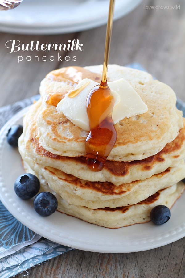 How To Make Buttermilk Pancakes  Buttermilk Pancakes Love Grows Wild