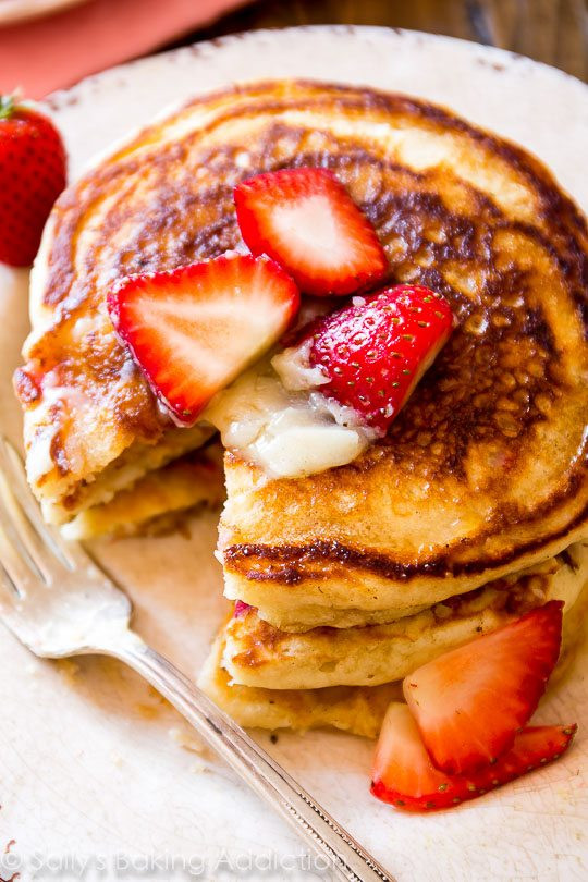 How To Make Buttermilk Pancakes  Strawberry Buttermilk Pancakes with Honey Butter