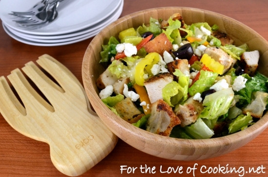 How To Make Chicken Salad  Greek Chicken Salad with Homemade Croutons